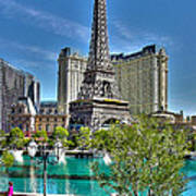 Eiffel Tower And Reflecting Pond Poster