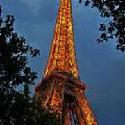Eiffel Tower At Night Poster
