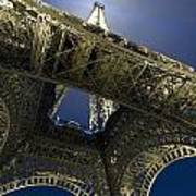 Eiffel Tower At Night,directly Below Poster