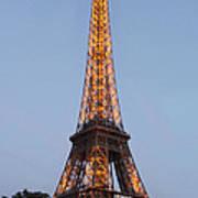 Eiffel Tower Lights Poster