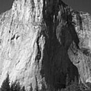 El Cap Face On Poster