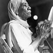 Elderly African American Woman Poster