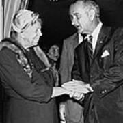Eleanor Roosevelt Shaking Hands Poster