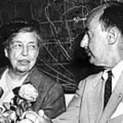 Eleanor Roosevelt Supported Adlai Poster by Everett