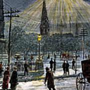 Electric Streetlight, 1881 Poster