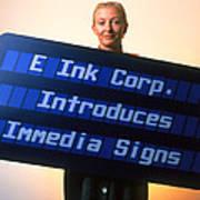 Electronic Ink Sign Poster by Volker Steger
