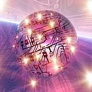 Electronic World, Artwork Poster by Mehau Kulyk