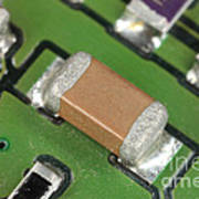 Electronics Board With Lead Solder Poster