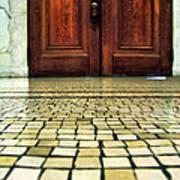 Elegant Door And Mosaic Floor Poster