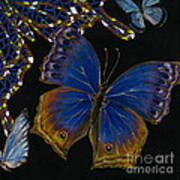 Elena Yakubovich - Butterfly 2x2 Lower Right Corner Poster