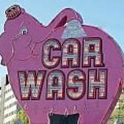 Elephant Car Wash Poster