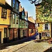 Elm Hill Norwich England Poster