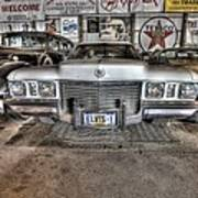 Elvis' Cadillac Poster