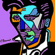 Elvis Presley Abstract Poster