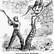 Emancipation Cartoon, 1862 Poster