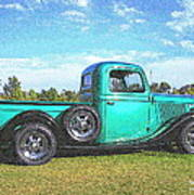 Emerald Green 1936 Ford Pickup Poster