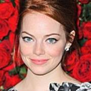 Emma Stone At Arrivals For Momas 4th Poster by Everett