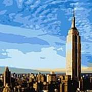 Empire State Building Color 16 Poster