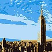 Empire State Building Color 6 Poster