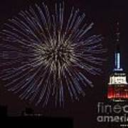 Empire State Fireworks Poster by Susan Candelario