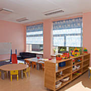 Empty Estonian Elementary Grade School Poster