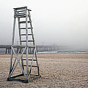 Empty Lifeguard Chair Poster by Skip Nall