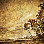Empty Tropical Beach 3 Poster