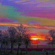 Enameled Sunrise Of Northern California Poster