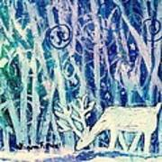 Enchanted Winter Forest Poster