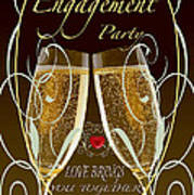 Engagement Party Card Poster
