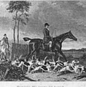 England: Fox Hunt, 1832 Poster