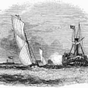 England: Yacht Race, 1843 Poster