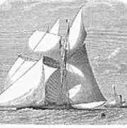 England: Yacht Race, 1868 Poster