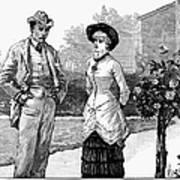 English Couple, 1883 Poster