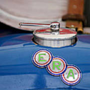 English Racing Automobile Hood Emblem Poster