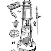 Engraving Of A Culpeper Microscope (1730) Poster