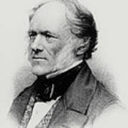 Engraving Of English Geologist Sir Charles Lyell Poster