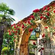 Entrance Arch With Flowers Poster