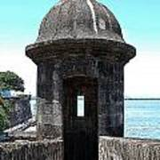 Entrance To Sentry Tower Castillo San Felipe Del Morro Fortress San Juan Puerto Rico Poster Edges Poster by Shawn O'Brien