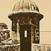 Entrance To Sentry Tower Castillo San Felipe Del Morro Fortress San Juan Puerto Rico Rustic Poster by Shawn O'Brien