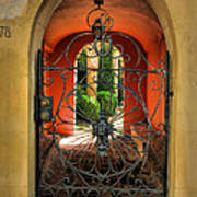 Entrance To Stucco Home Poster by Steven Ainsworth