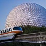 Epcot And Monorail Poster