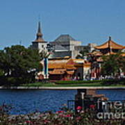 Epcot China And Norway Poster