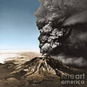 Eruption Of Mount St. Helens Poster