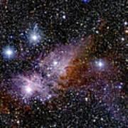 Eta Carinae Nebula, Infrared Image Poster