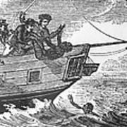European Sailors Throwing African Poster by Everett