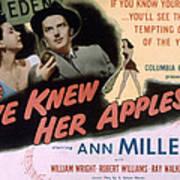 Eve Knew Her Apples, Ann Miller Poster by Everett