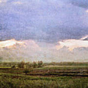 Evening Field Poster