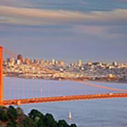 Evening Over San Francisco Poster