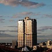 Evening View Of Murray John Tower In Swindon Poster by Nick Temple-Fry